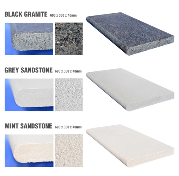 Natural Granite and Sandstone Coping Stones now in stock